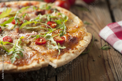 Poster Pays d Europe chilli pizza