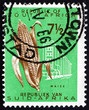 canvas print picture - Postage stamp South Africa 1961 Ear of Corn, Maize