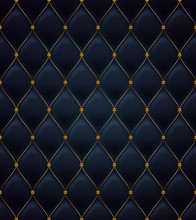 Quilted Seamless Pattern. Blac...