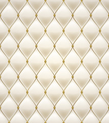 Fototapeta Quilted seamless pattern. Cream color.