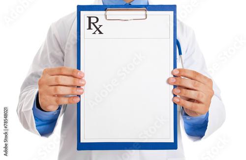 Fotografie, Obraz  Doctor holding prescription paper