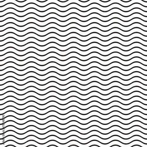 Fotografie, Obraz  Seamless wavy line pattern