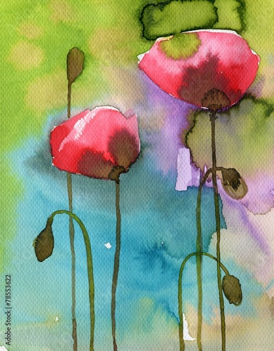 Fototapety, obrazy: poppies, red,