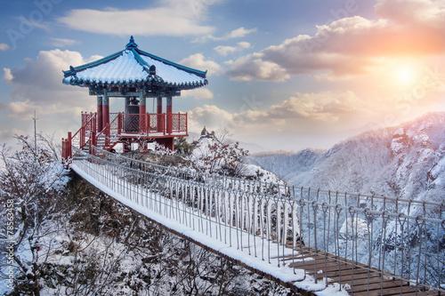 Landscape in winter,Guemosan in korea Poster
