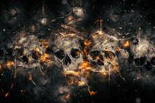Skulls In Fire