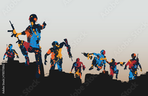 Paintball soldiers Canvas Print