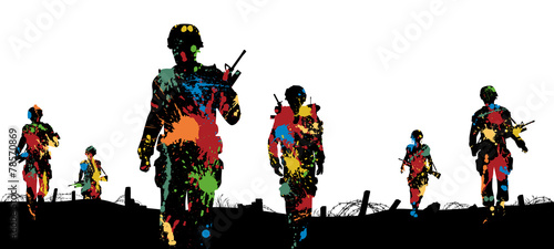 Paintball troops Wallpaper Mural