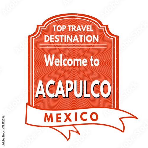 Fotografija  Welcome to Acapulco stamp