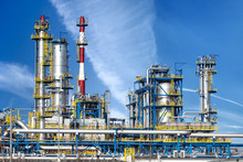 Petrochemical Plant, Oil Refinery Factory.