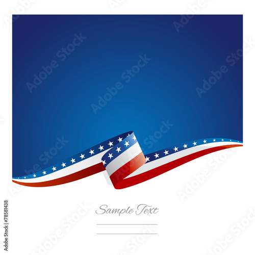 New abstract USA flag ribbon Wall mural