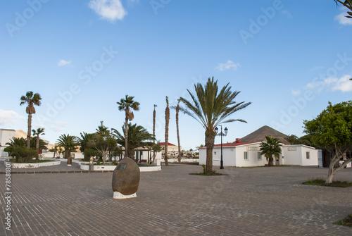 Canvas Print La Oliva, Fuerteventura, Canary Island, Spain