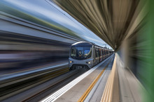 High Speed Train With Motion B...