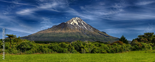 Canvas Prints New Zealand Volcano Taranaki, New Zealand - HDR panorama