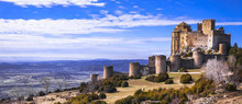 Impressive Medieval Loarre Castle, Aragon, Spain