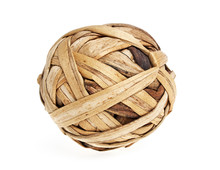 Rattan Ball On A White Background