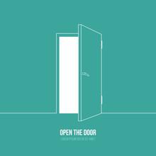 Illustration Of Open Door