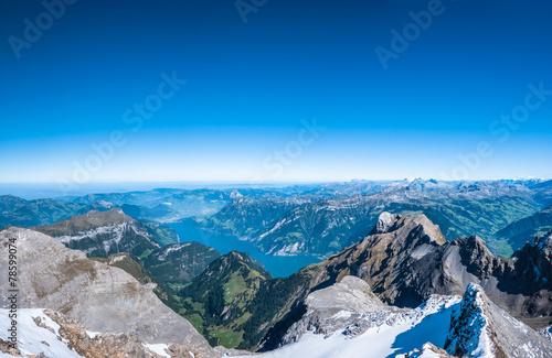 Photographie  Lac de Lucerne et les Alpes suisses