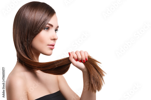 Foto Woman with beautiful long hair