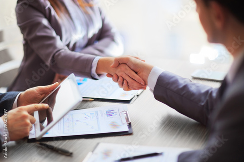 Stampe  Business people shaking hands