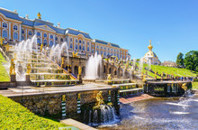 Luxury Fountains At Peterhof Palace, Saint Petersburg, Russia