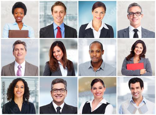 Fotografía  Business people face.