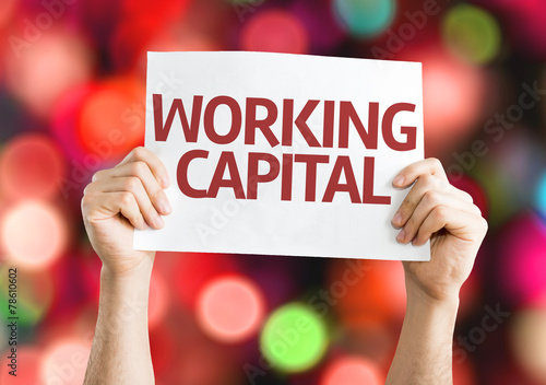 Foto  Working Capital card with colorful background