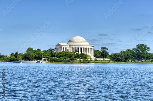 Fotobehang Kersenbloesem Jefferson Memorial - Washington D.C.