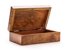 Open Empty Wooden Square Box