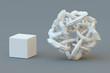 canvas print picture - Simple versus complex. Generic visualization of the concept.