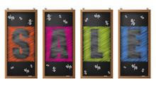 Chalckboard Sale Labels