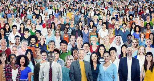 Fotografija Large Group Diverse Multiethnic Cheerful People Concept