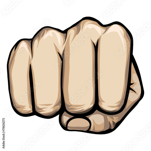 Fotografiet  vector punching hand