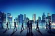 Commuter Business City Cityscape Corporate Colleagues Concept