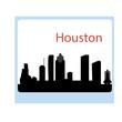 houston city silhouette