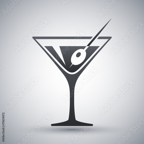 Fotografía  Vector martini glass icon