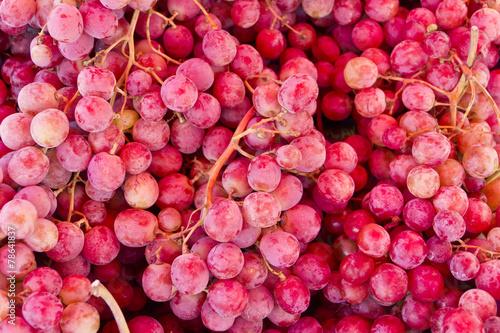 Fototapeta purple grapes close up obraz