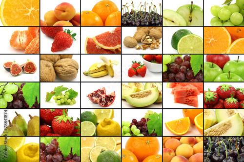 Foto op Aluminium Assortiment colorful assorted fruit collage