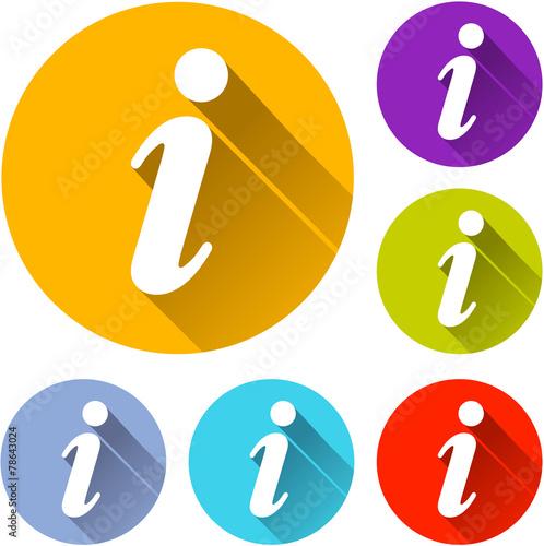 Fotografía  information icons