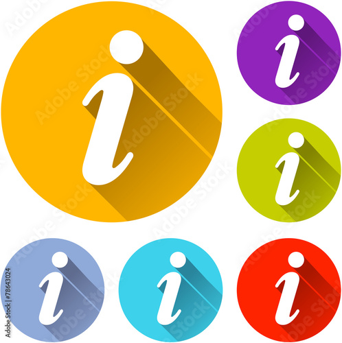 Fotografie, Obraz  information icons