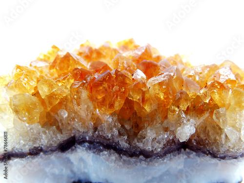Fotografie, Obraz  citrine geode geological crystals