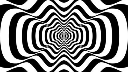Fototapeta 3D abstrakcyjne fale iluzja