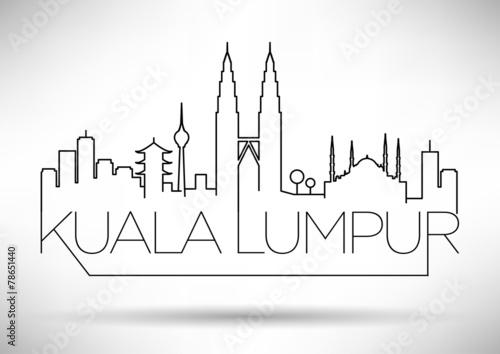 Photo  Kuala Lumpur City Line Silhouette Typographic Design