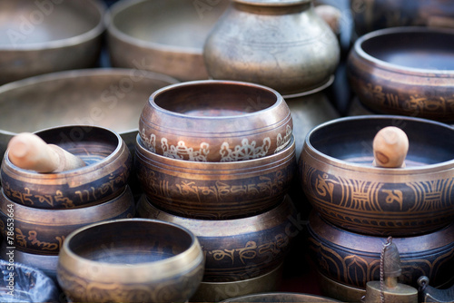 Singing Bowls Fototapet