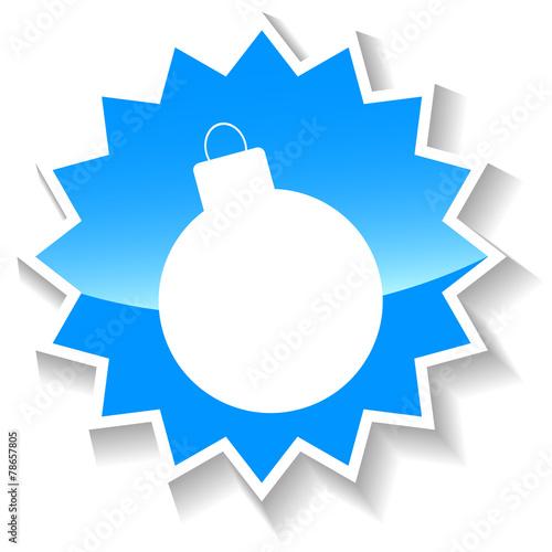 Fotografie, Obraz  Bomb blue icon