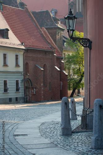 street-in-ostrow-tumski-wroclaw-poland