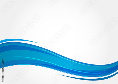 Poster Abstract wave Abstract background with blue waves