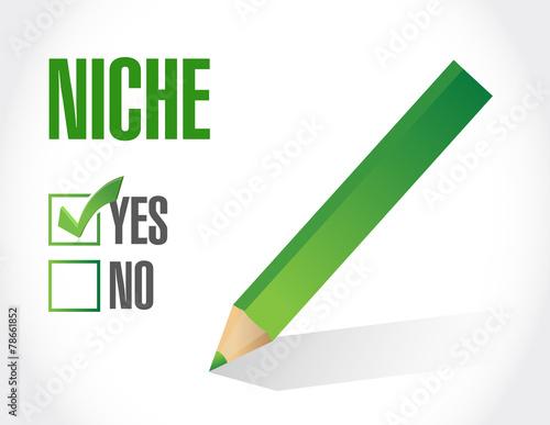 Fotografie, Obraz  yes to niche. illustration design