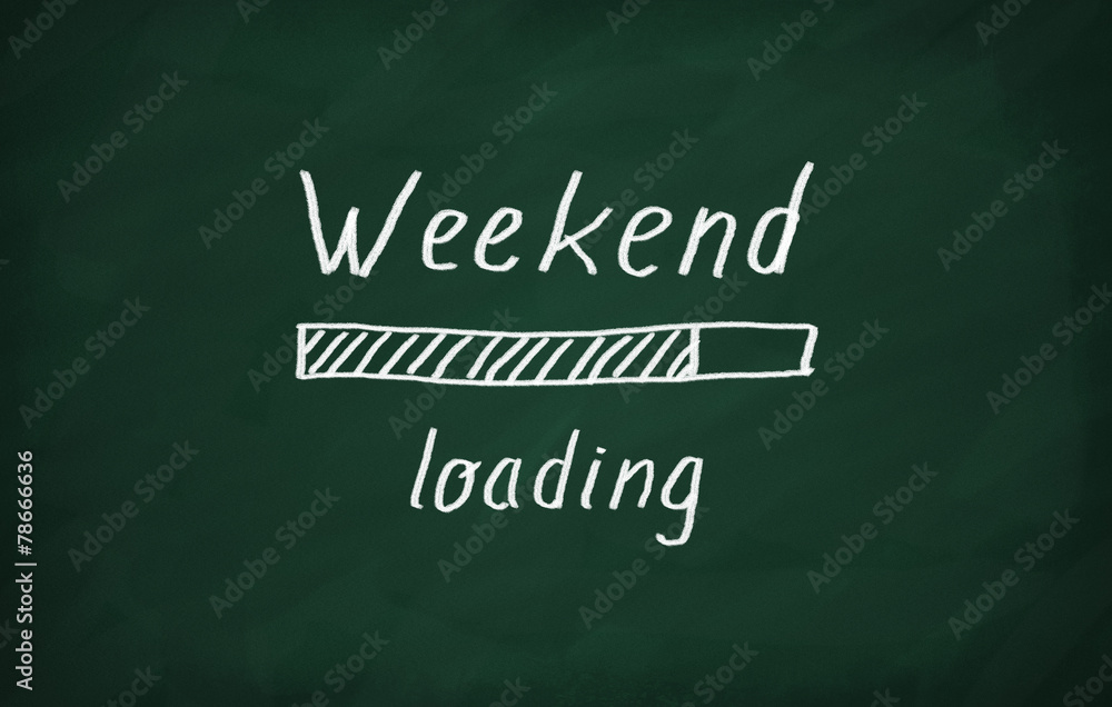 Fototapety, obrazy: Loading weekend
