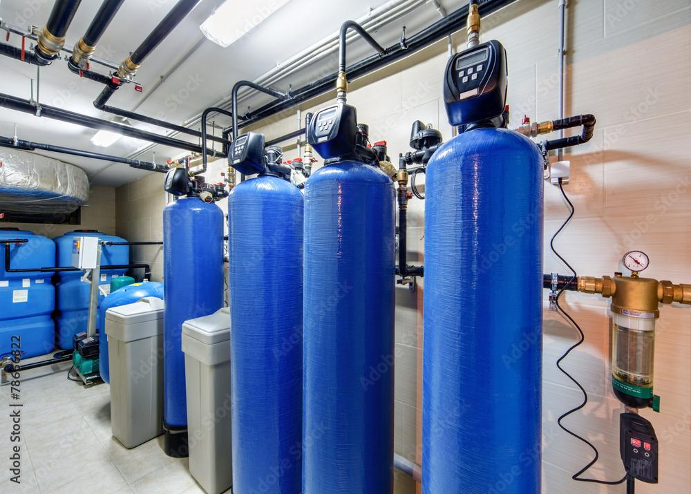 Fototapeta modern water treatment system for industrial boiler