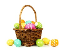 Easter Basket Filled With Colo...